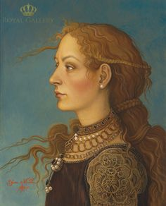 "Yana Movchan (Ukraine, b. - ""It is not heavy if you know how to wear it II"", 2011 Renaissance Portraits, Renaissance Paintings, Claudia Tremblay, Magic Realism, Ukrainian Art, Portrait Art, Painting & Drawing, Art Drawings, Drawing Faces"
