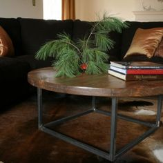 reclaimed wood and iron round bricklayers coffee table handcrafted by concepts created in va please visit wwwconceptscreatedcom for more information bargu mango wood side table
