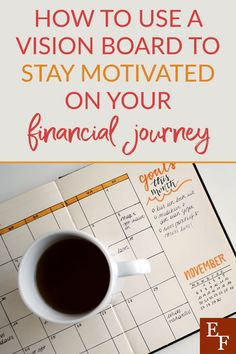 How to use a Vision Board to Stay Motivated | Everything Finance Graphic Design Tools, Tool Design, Creating A Vision Board, Family Units, Specific Goals, Eyes On The Prize, Finance Blog, Financial Goals, Get Excited