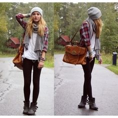 flannel shirt & boots