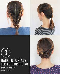 3 Hair Tutorials Perfect for Dirty Hair