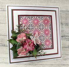 John Next Door: Pink Flowers. Pink Flowers, Paper Flowers, Owl Punch, Beautiful Handmade Cards, Next Door, Flower Cards, Stampin Up Cards, Flower Power, Floral Wreath
