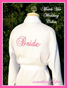 Wedding Day Bride Back Embroidered Robe  by SomethingYouGifts, $34.95