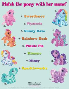 My Little Pony Printable Games Images