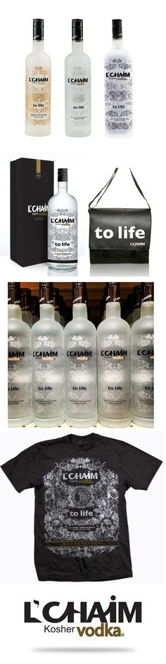 L'Chaim Kosher Vodka Bottles and Branding PD