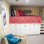 DIY Bed Platform from Kitchen Cabinets