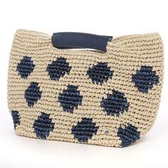 beige e poi azzurri Filet Crochet, Crochet Tote, Crochet Handbags, Crochet Purses, Love Crochet, Crochet Crafts, Knit Crochet, Tapestry Bag, Tapestry Crochet