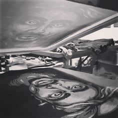 Some late night printing this week prepping for the Candler park art festival. Come see this Dead Series shirt and other new designs this weekend!  #screenprinting #tshirt #shoplocal #localartist #atl #candlerparkfallfest #tupac #2pac #music #design #process #hiphop #fallfestincandlerpark