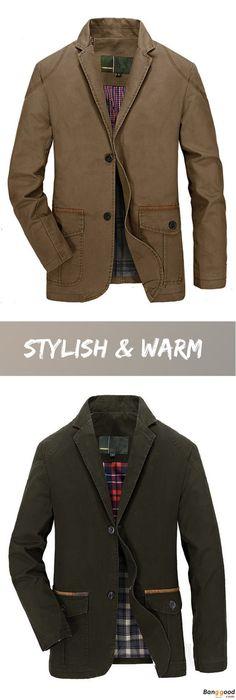 US$53.16 + Free Shipping. Men Jacket, Spring Jacket, Fall Jacket, Cotton Jacket, Blend Casual Jacket, Buttons Jacket, Coat Suit Outwear. US Size: S ~ 3XL. Color: Khaki, Olive. Stylish & Warm, Shop Now!