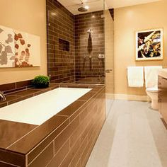 modern bathroom by Dijeau Poage Construction