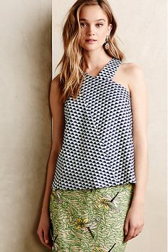 Anthropologie EU Tiled Jacquard Tank