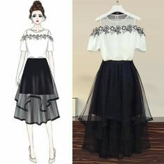 Girls Fashion Clothes, Teen Fashion Outfits, Mode Outfits, Look Fashion, Girl Fashion, Fashion Drawing Dresses, Fashion Illustration Dresses, Fashion Dresses, Dress Design Sketches