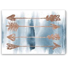 Blakely Home 'Arrows Rose Gold' Canvas Art - 17528929 - Overstock ...