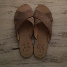 DV suede slip on sandals size 8.5 DV suede slip on sandals size 8.5 DV by Dolce Vita Shoes Sandals