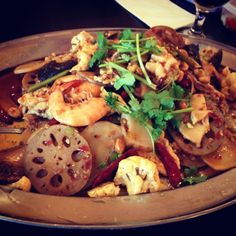 Sichuan food at hot kitchen