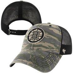 efbaf7dd9b0  47 Brand Boston Bruins Recondo Snapback Adjustable Trucker Hat - Camo
