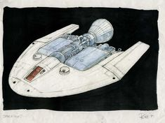 Art from the Future: Ship designs by Ron Cobb for a planned WING. Spaceship Art, Spaceship Design, Spaceship Concept, Concept Ships, Concept Art, Sci Fi Models, Star Trek Starships, Mechanical Design, Science Fiction Art
