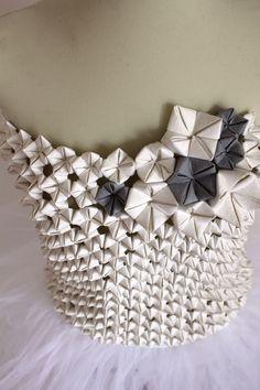 Jacroki origami bodice, design Elena Salmistraro