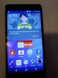 Docomo Xperia Z3 Compact SO-02G Black Sony Unlocked Android SmartPhone F/S