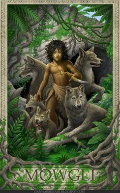 wolves with mowgli drawings | Jungle Book- Mowgli by *GoldenDaniel on deviantART