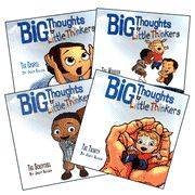 Joey Allen's Big Thoughts for Little Thinkers series on The Gospel, The Scripture, The Trinity, and The Mission is perfect for 4-7 year olds! I love these books.