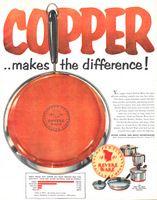 Revere Ware Copper Bottom Pans 1957 Ad Picture