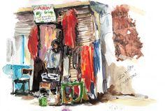 Teinturier à Leh, Carnet de voyage au Ladakh - Delphine Priollaud-Stoclet