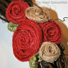 DIY Tutorial: Burlap Flowers / DIY Burlap Flowers - Bead&Cord