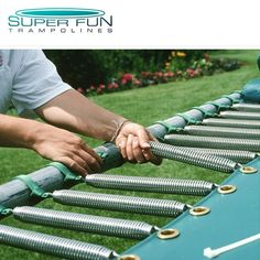 Order New x GTS Extreme Trampoline Springs! Heavy-duty, high tensile tapered springs made from galvanized steel, reducing warping or rusting. Extreme Trampoline, Trampoline Springs, Super Bounce, Big Waves, Galvanized Steel, Garden Hose, Things That Bounce, Fun, Image