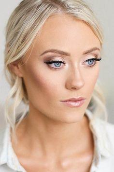 bridesmaid makeup blue eyes marisarosemph
