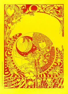 Dylan poster designed by Marijke Koger of The Fool,1967