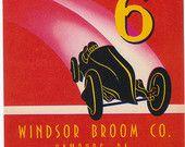 Auto No 6 Label 1940s Ephemera Automobile Racecar Vintage Label Grand Prix Monaco Race Vehicle Print Decor
