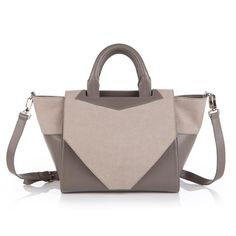 Structured Tote - Grey//
