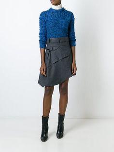 Carven asymmetric high-waisted skirt