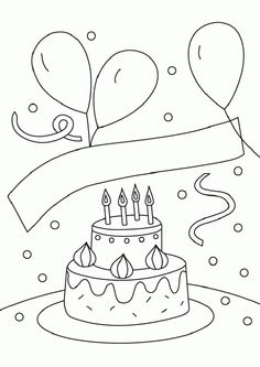 Die 159 besten Bilder von Happy Birthsday coloring | Baby birthday