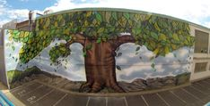 Tree painting, graffiti art, street art, custom graffiti, mural wall