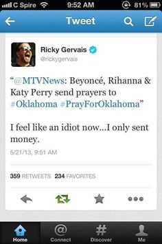 Ricky Gervais tweets