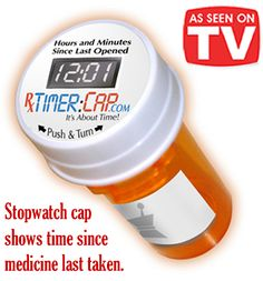 Gifts for Family - Rx Timer Cap - Pill bottle cap that shows how long it's been since your last dose.  It's fantastic!