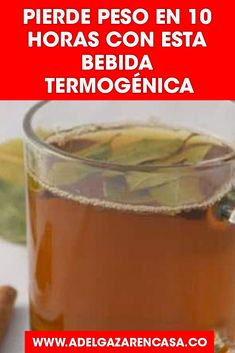 Bebidatermogenica Vientrehinchado Per - Food Drink Fitness Inspiration, Fat Cutter Drink, Healthy Drinks, Healthy Recipes, Detox Juice Recipes, Weight Loss Drinks, Loose Weight, Wellness, Anti Aging