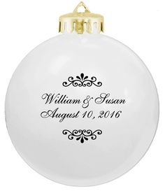 Inexpensive and Pretty White Wedding Favors Ornaments