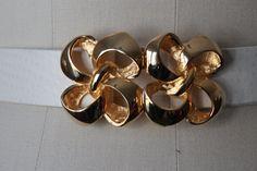 Vintage Gold Bow Swirls Kissing Clasp Belt by VtgAdoptionAgency, $16.00