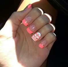 love these nails but I would make them either red or navy blue
