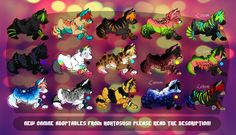 New canine adoptables by =Hohtosusi on deviantART