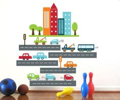 Car Decal for Kids Rush Rush Traffic large by UrbanTickle on Etsy, $79.00