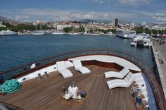 The bow of the M/Y President. A great place to soak up some rays! Visit http://out-adventures.com/trip/lesbian-and-gay-croatia-978/ for more information about this adventure. #gaytravel #croatia #outadventures #yacht