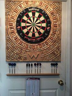 Saving corks? DIY cork dart board background.