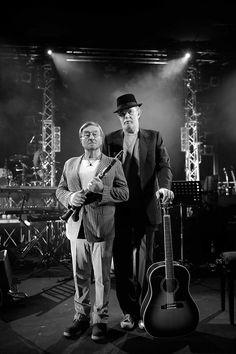 ITALY, Bologna: italian singers and songwriters Lucio DALLA and Francesco DE GREGORI.