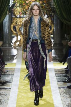 As much as the 1970's have been threading influence throughout so many of this season's collections, none are more seemingly Steven Tyler via Aerosmith rock and roll inspired than Roberto Cavalli. ...