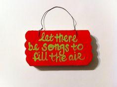 Grateful Dead Christmas Ornament - Ripple Lyrics - Song Lyric Art -Jerry Garcia -  Red and Green -Home Decor - Hippie Christmas Ornament on Etsy, $6.00