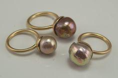 Kasumi pearl rings from Kojima Co.
